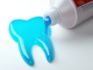 toothpaste in the shape of a tooth